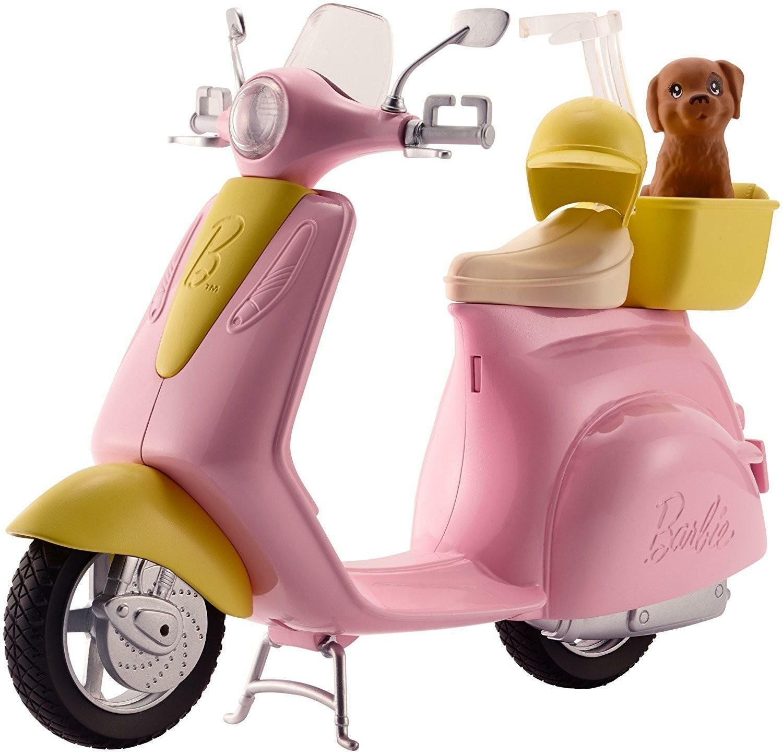mattel mattel barbie scooter e cagnolino