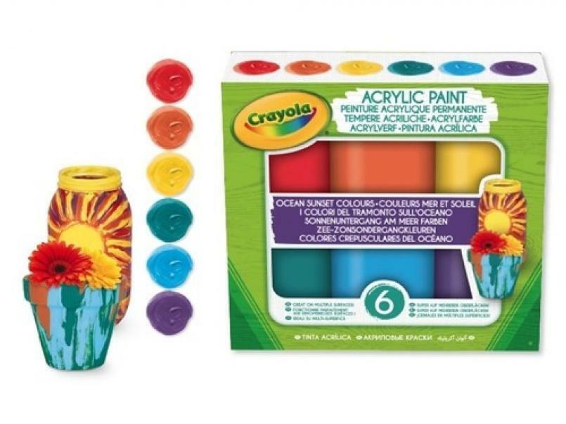 crayola set tempere acriliche