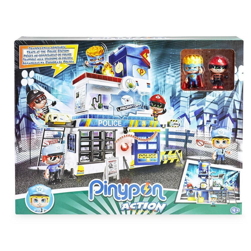giochi preziosi pinypon action - stazione polizia + 2 personaggi