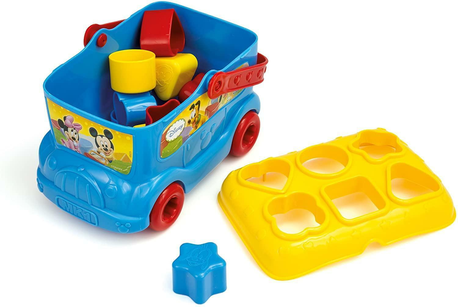 clementoni baby mickey bus inserimento forme 14395