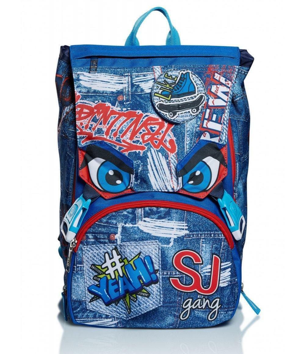 seven seven schoolpack sj gang facce boy - zaino estensibile + quick case completo