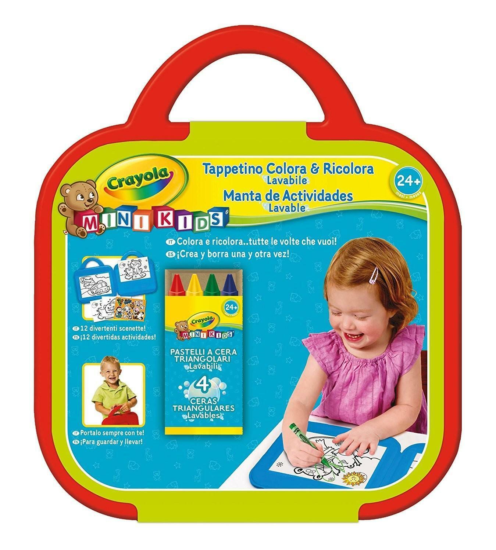crayola mini kids tappetino colora & ricolora