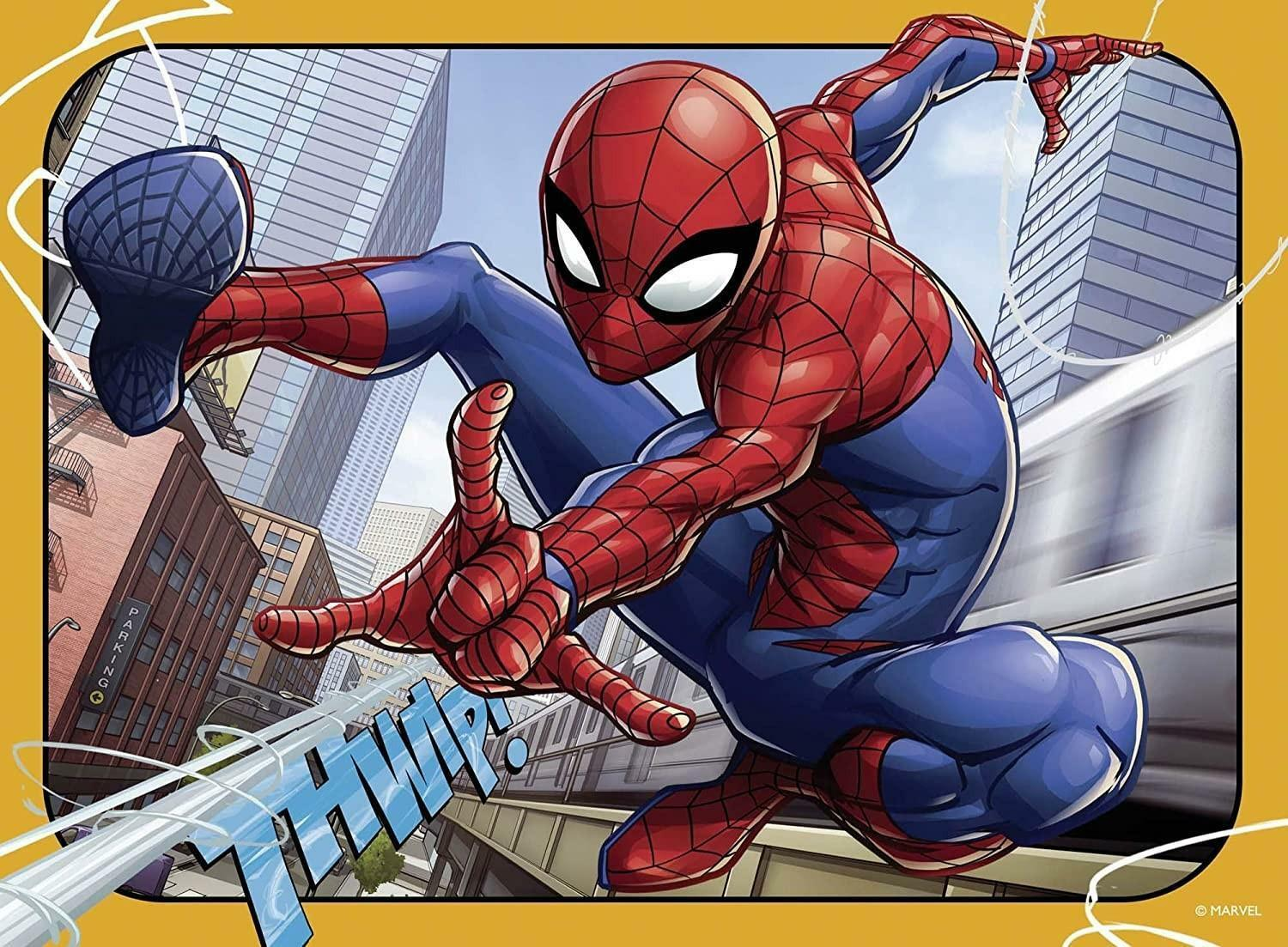 ravensburger ravensburger puzzle 4 in 1 - spiderman