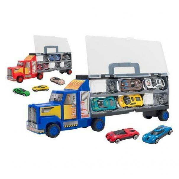 globo globo spidko metal gear camion valigetta + 6 auto die cast
