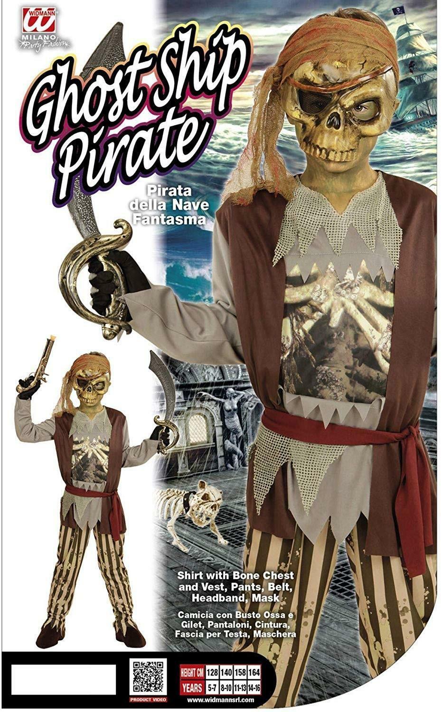 widmann widmann costume pirata della nave fantasma taglia 11/13 anni