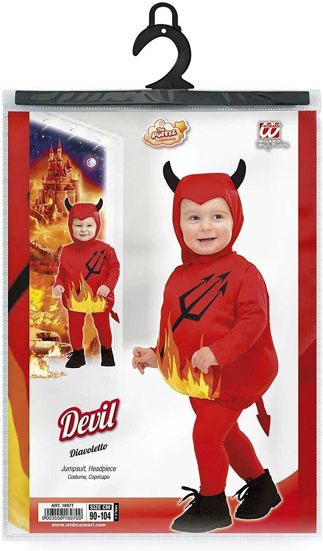 widmann widmann costume diavoletto taglia 1/3 anni