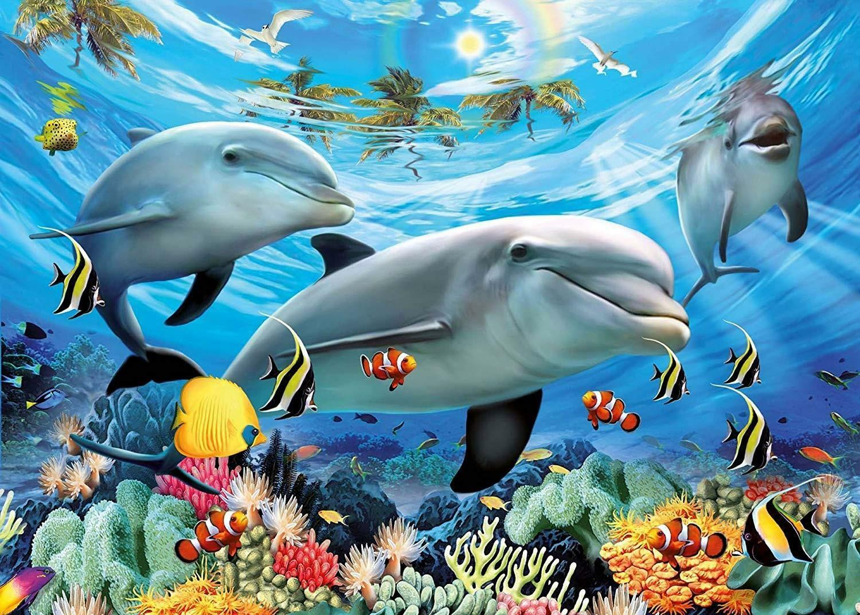 ravensburger ravensburger puzzle 300 pz xxl - delfini