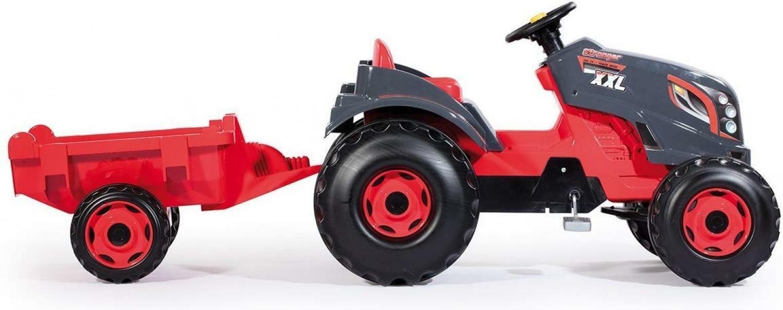 smoby smoby trattore stronger xxl con rimorchio
