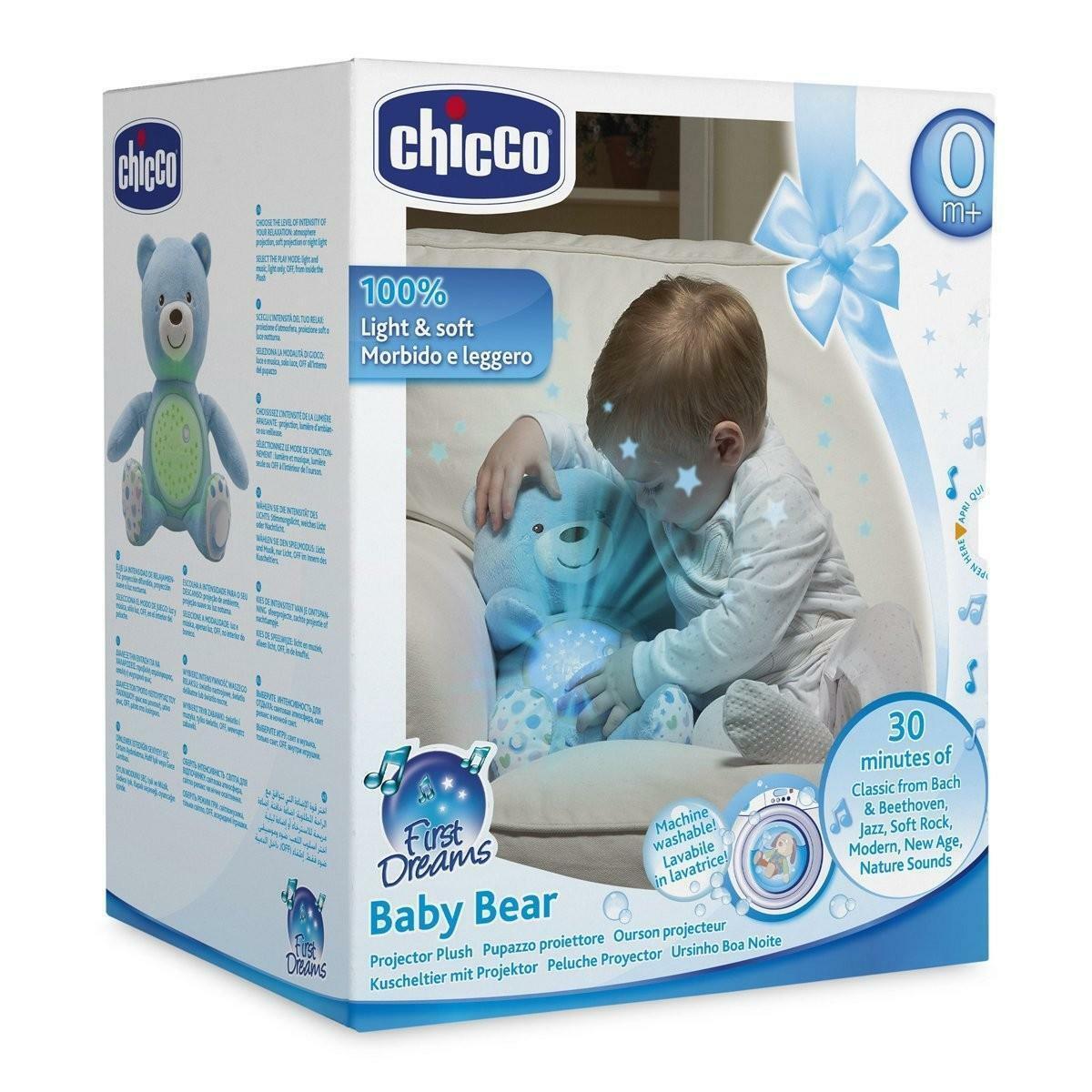 chicco chicco proiettore first dreams baby bear azzurro