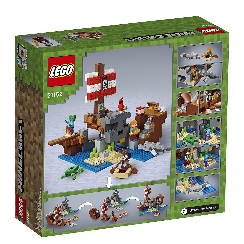 lego lefo minecraft 21152 - avventura sul galeone dei pirati