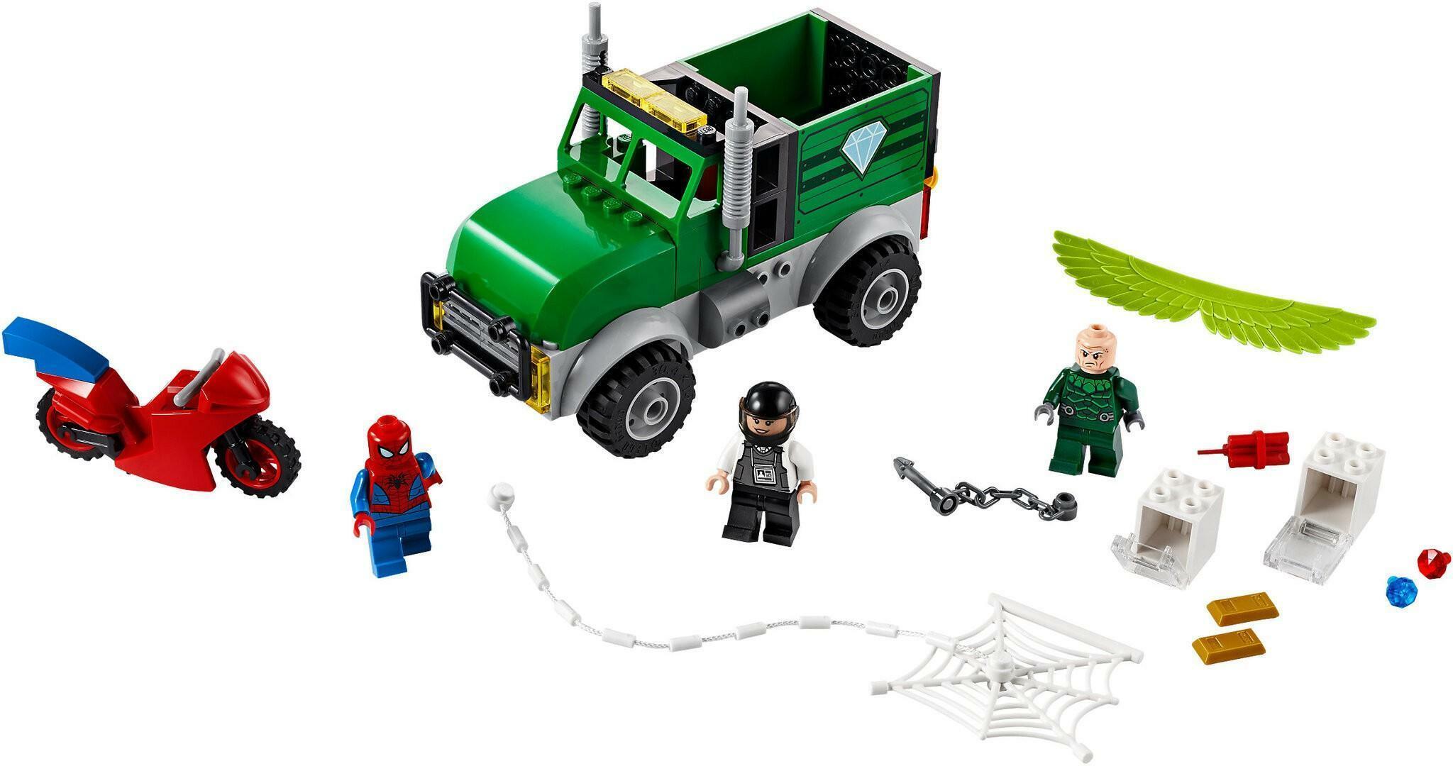 lego lego marvel 76147 - avvoltoio e la rapina del camion