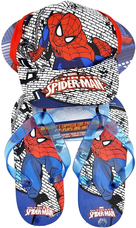 coriex coriex set spiderman - cappello + ciabatte infradito