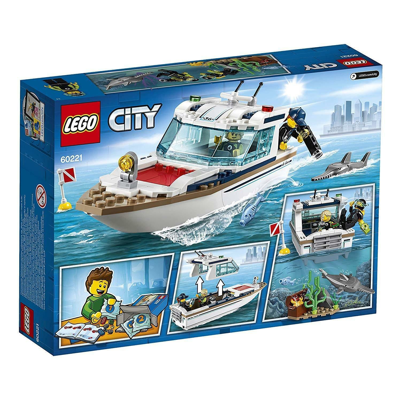 lego lego city 60221 - yacht per immersioni