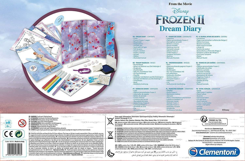clementoni frozen 2 - dream diary 18515