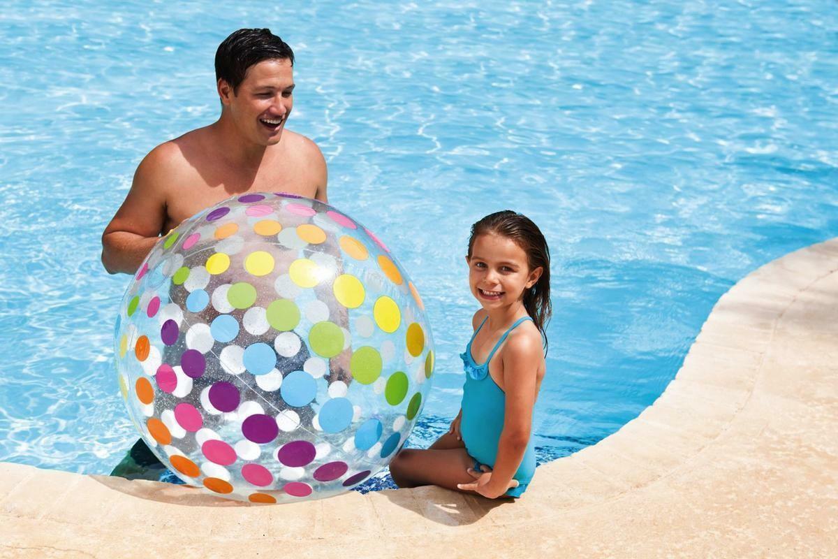 intex intex palla pois multicolor gonfiabile - 59065