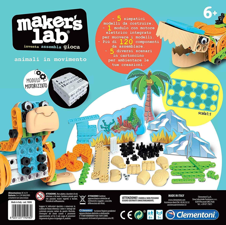 clementoni maker lab 19098 - animali in movimento