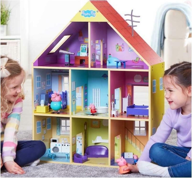 giochi preziosi peppa pig casa in legno deluxe