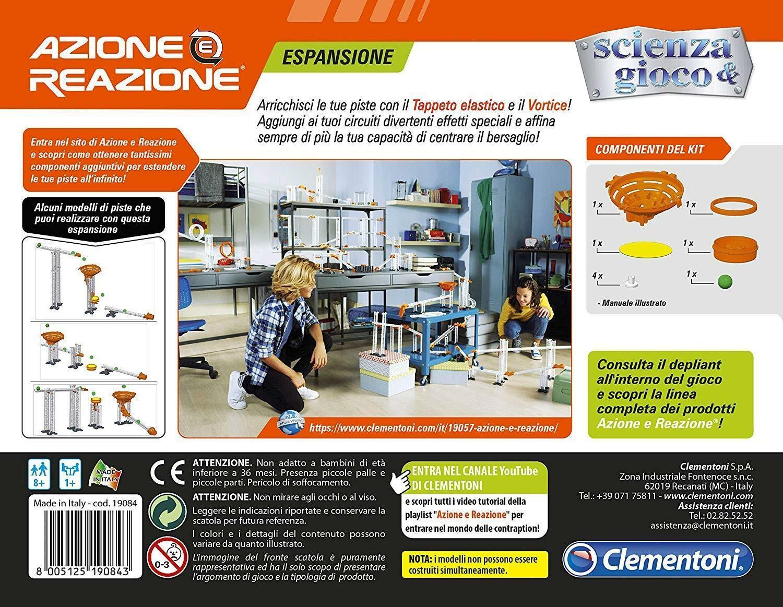 clementoni azione e reazione - tappeto elastico + vortice 19084