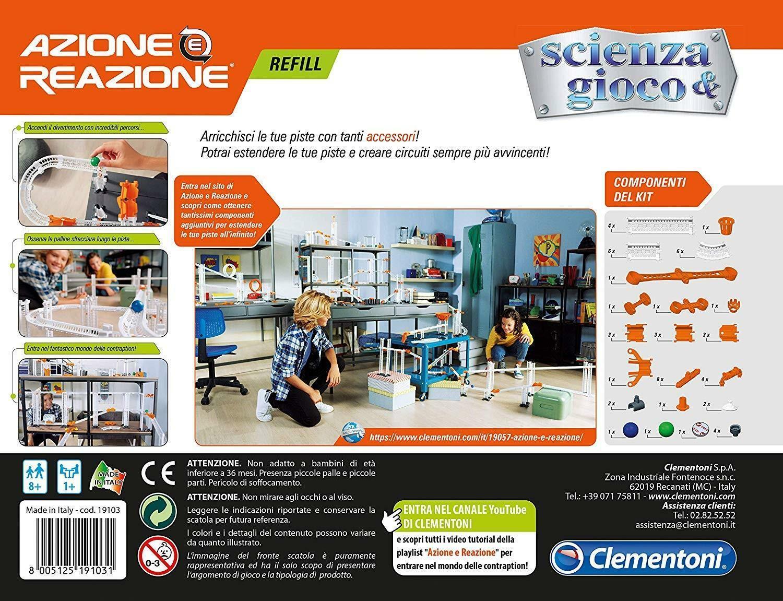 clementoni scienza & gioco - azione e reazione - refill accessori 19103