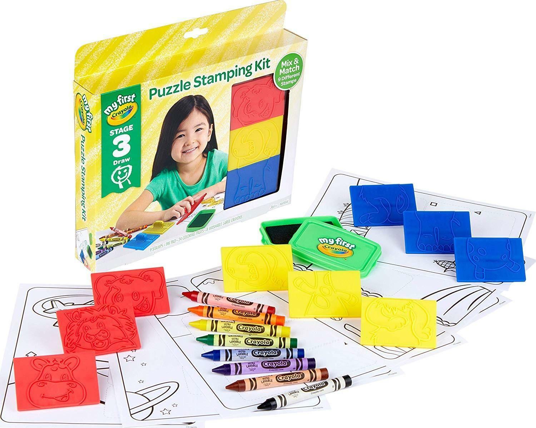 crayola set stampini puzzle