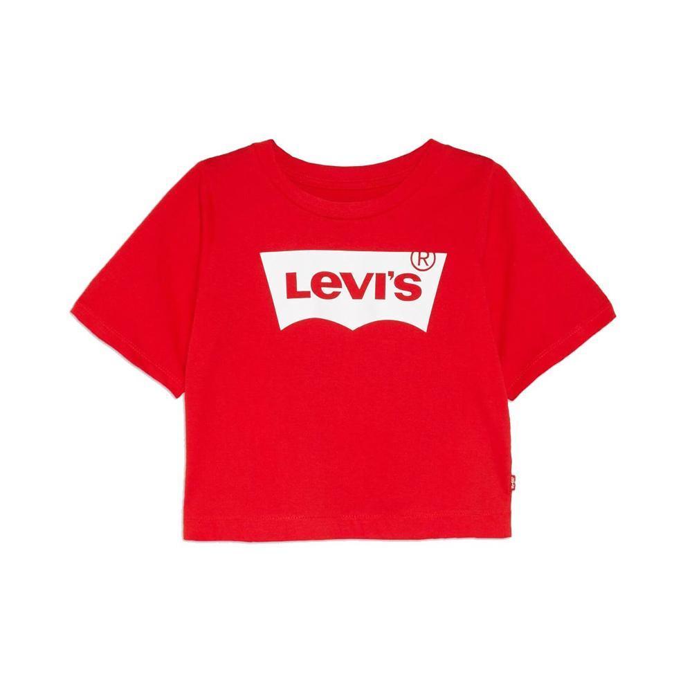 levis levis t-shirt ragazza rosso 4e0220