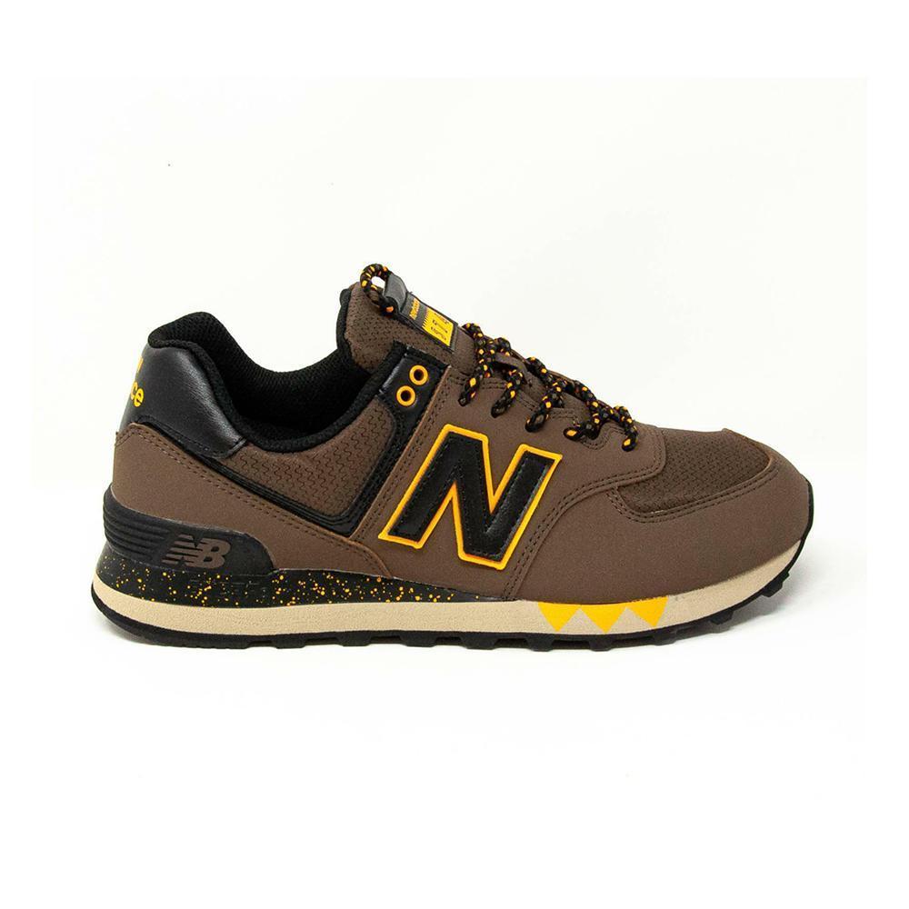 new balance scarpa new balance uomo marrone arancio nbml574nfm