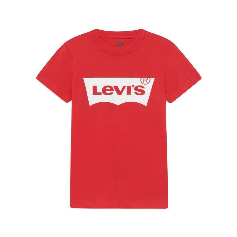 levis levis t-shirt junior rosso bianco 9e8157