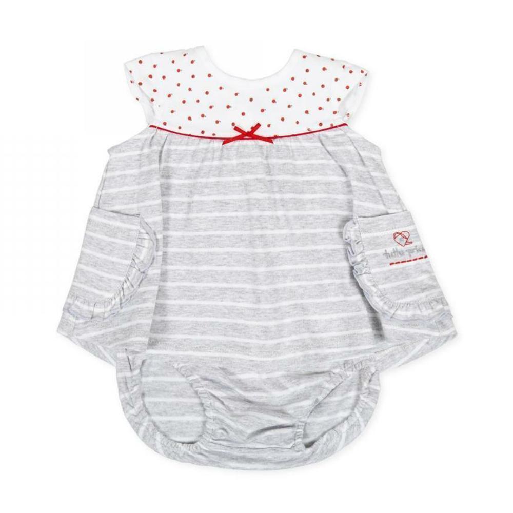 tutto piccolo tutto piccolo vestitino coulotte neonata grigio 8783s20