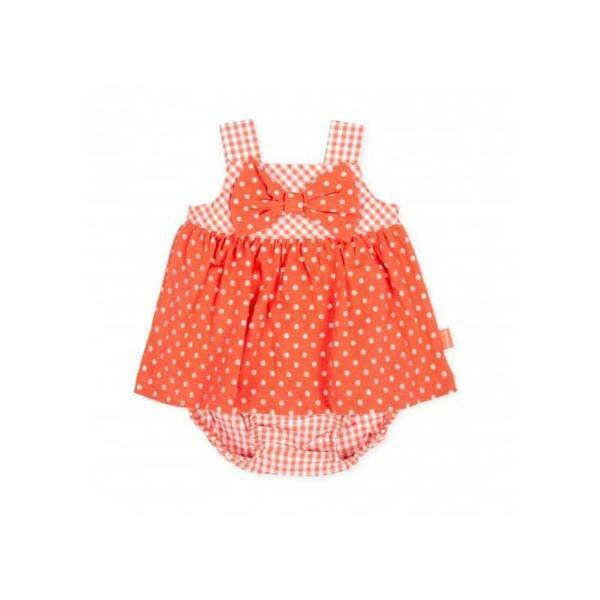 tutto piccolo tutto piccolo vestitino con coulotte rosso 8786s20