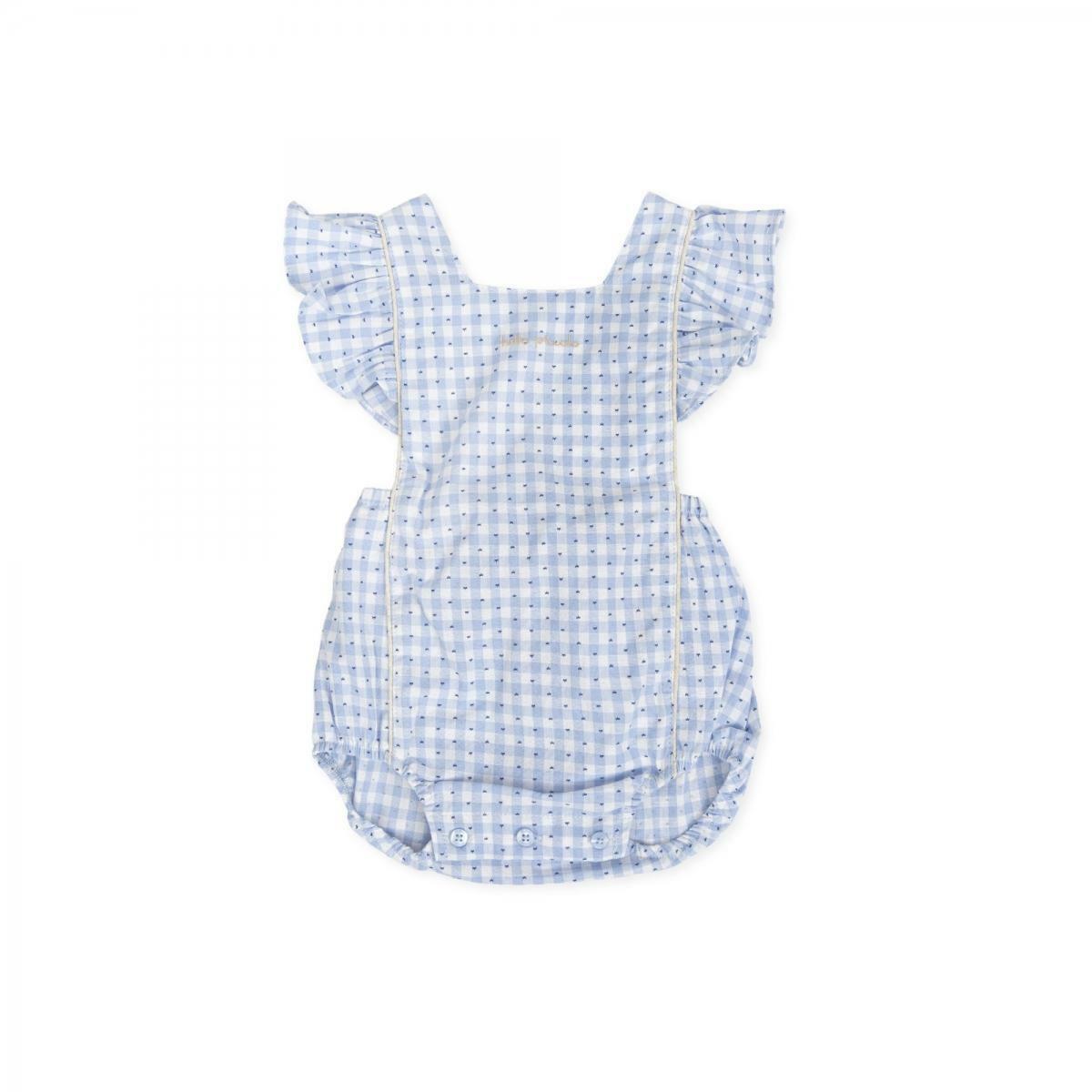 tutto piccolo tutto piccolo pagliacetto neonato azzurro 8711s20/b03