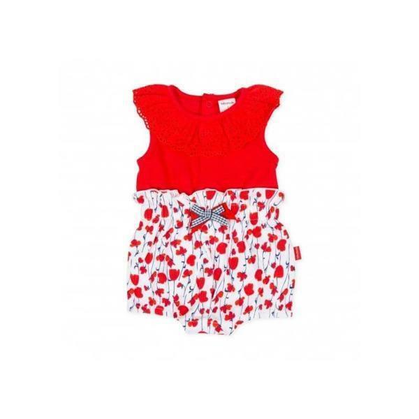 tutto piccolo tutto piccolo pagliacetto neonato rosso bianco 8394s20