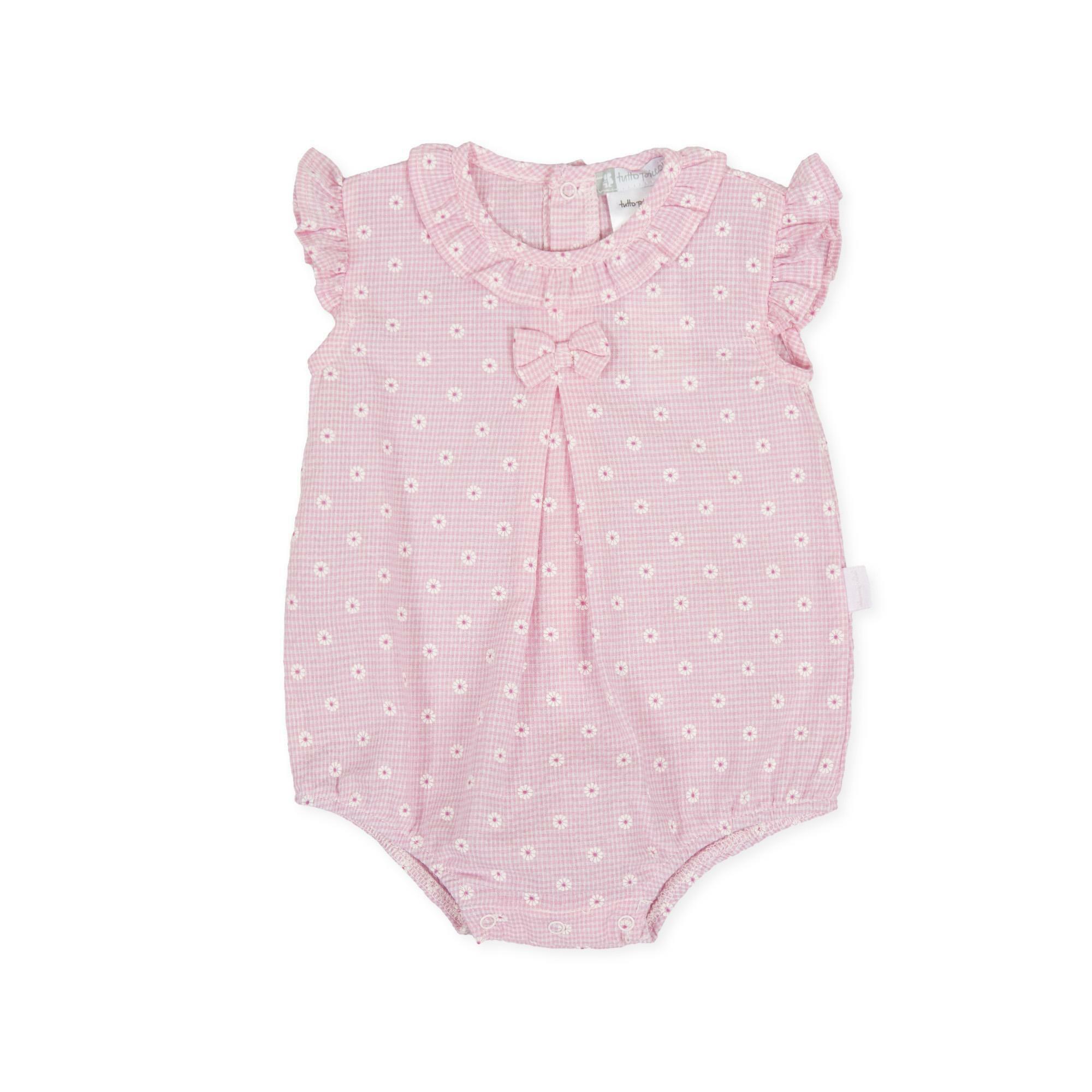 tutto piccolo tutto piccolo pagliacetto neonato rosa 8384s20