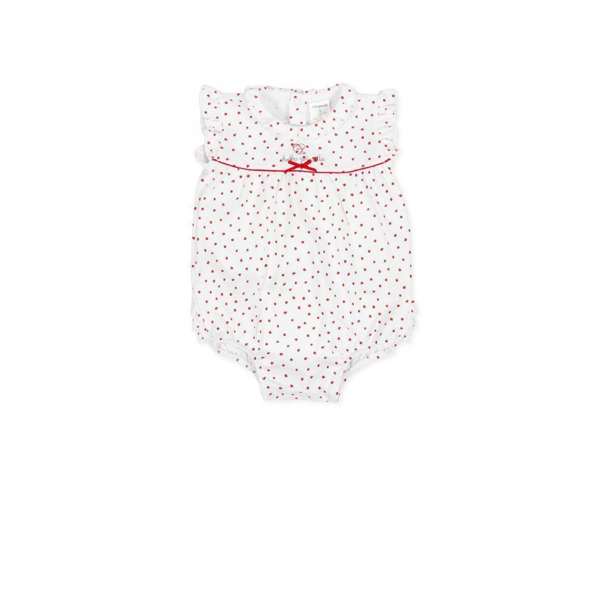 tutto piccolo tutto piccolo pagliacetto neonata bianco 8383s20