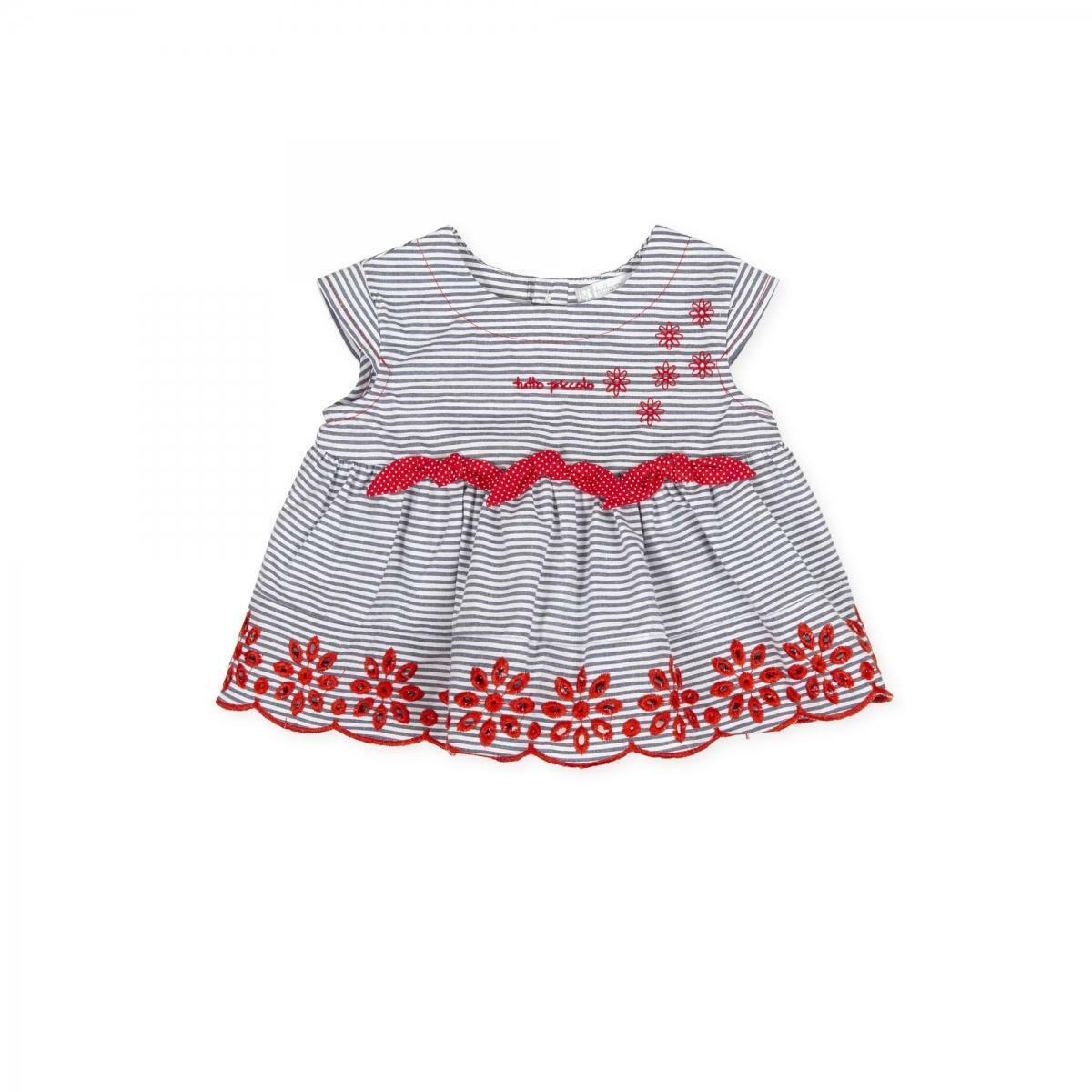 tutto piccolo tutto piccolo camicia neonato blu bianco rosso 8140s20