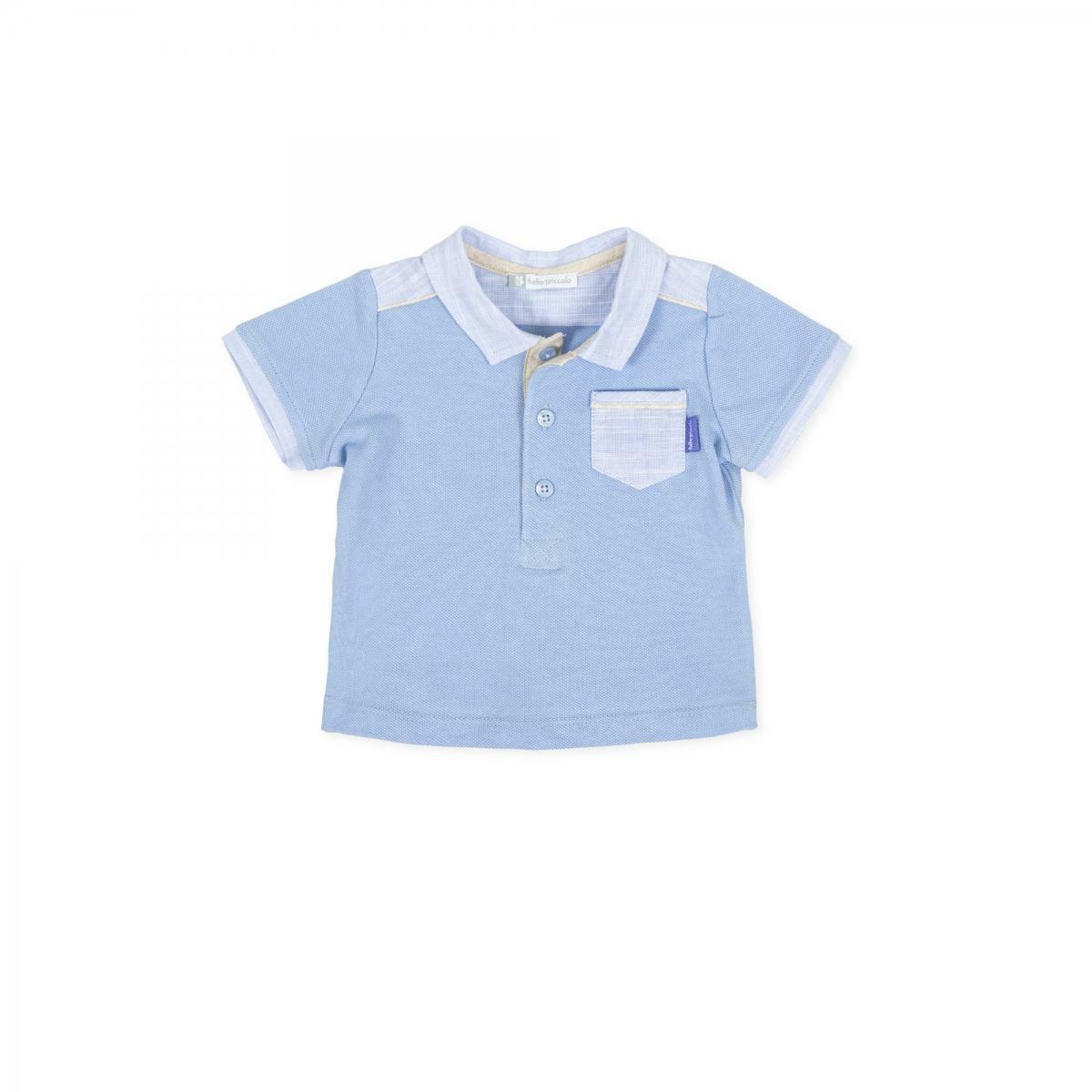 tutto piccolo tutto piccolo polo neonato azzurro 8811s20
