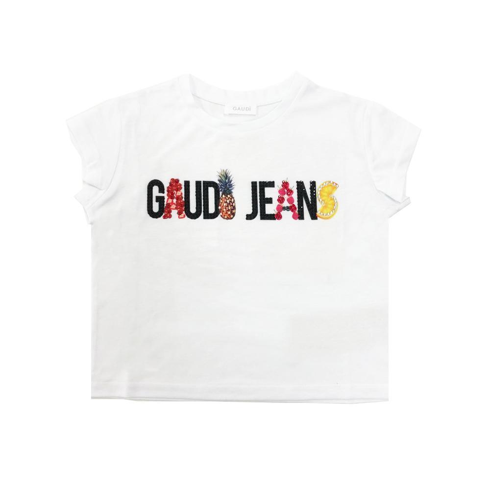 gaudi gaudi t-shirt ragazza bianco gajf0030