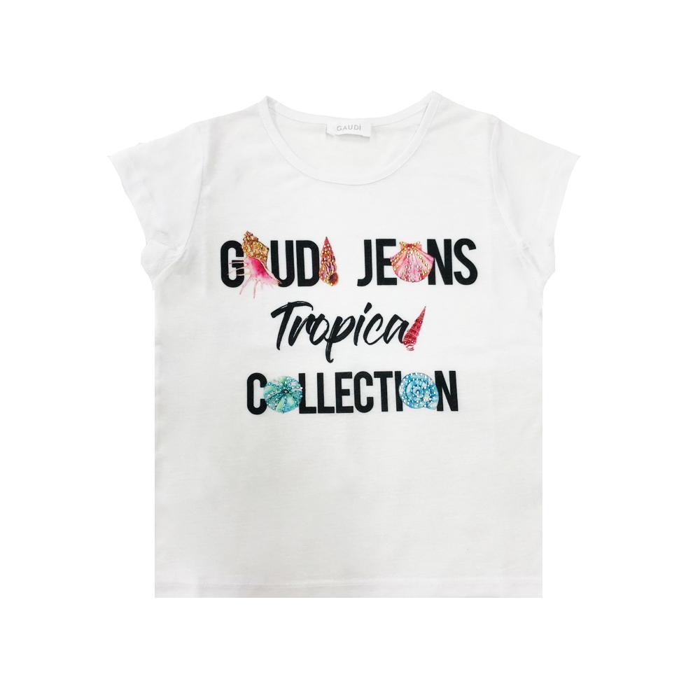 gaudi t-shirt gaudi ragazza bianco gajf0032