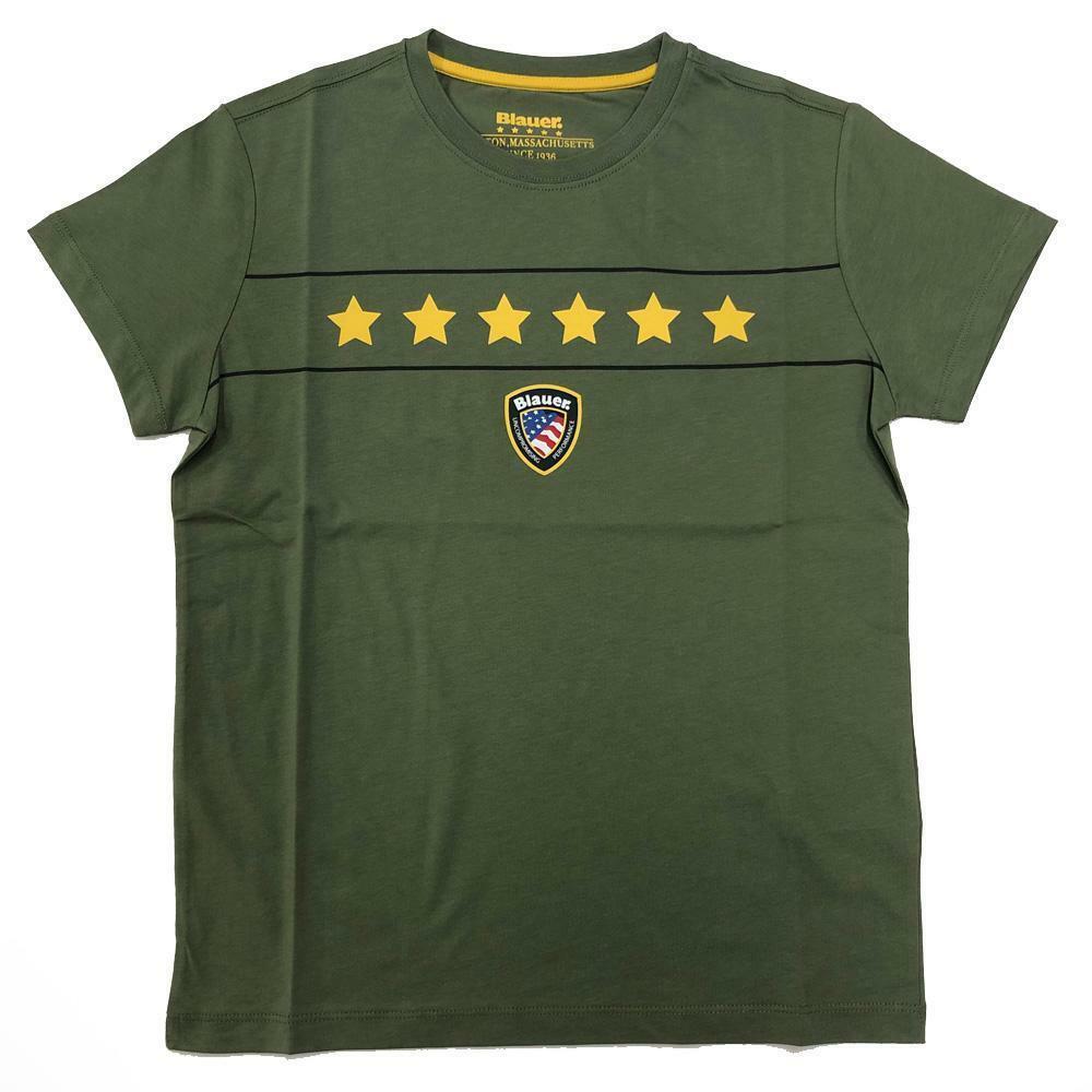 blauer t-shirt blauer  uomo verde 20sbluh02167