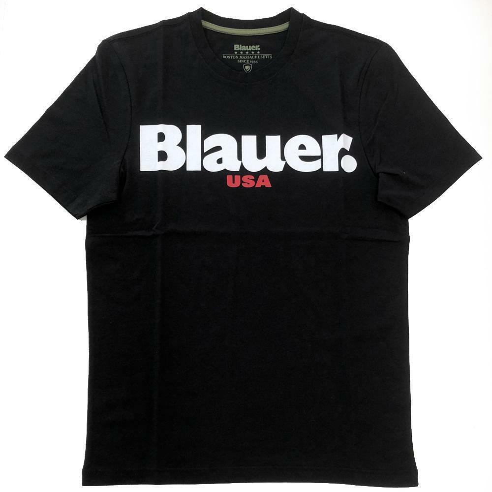 blauer t-shirt blauer uomo nero 20sbluh02170