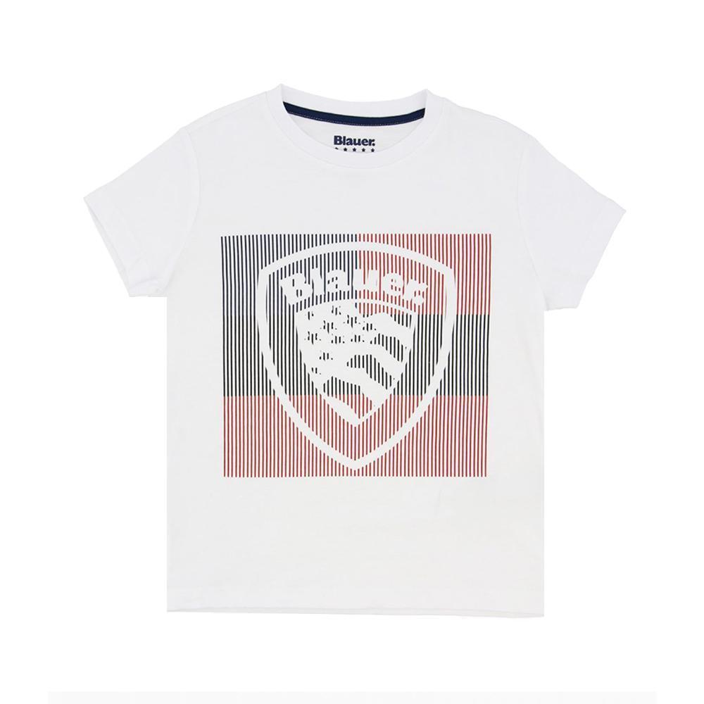 blauer t-shirt blauer junior bianco 20sblkh02194