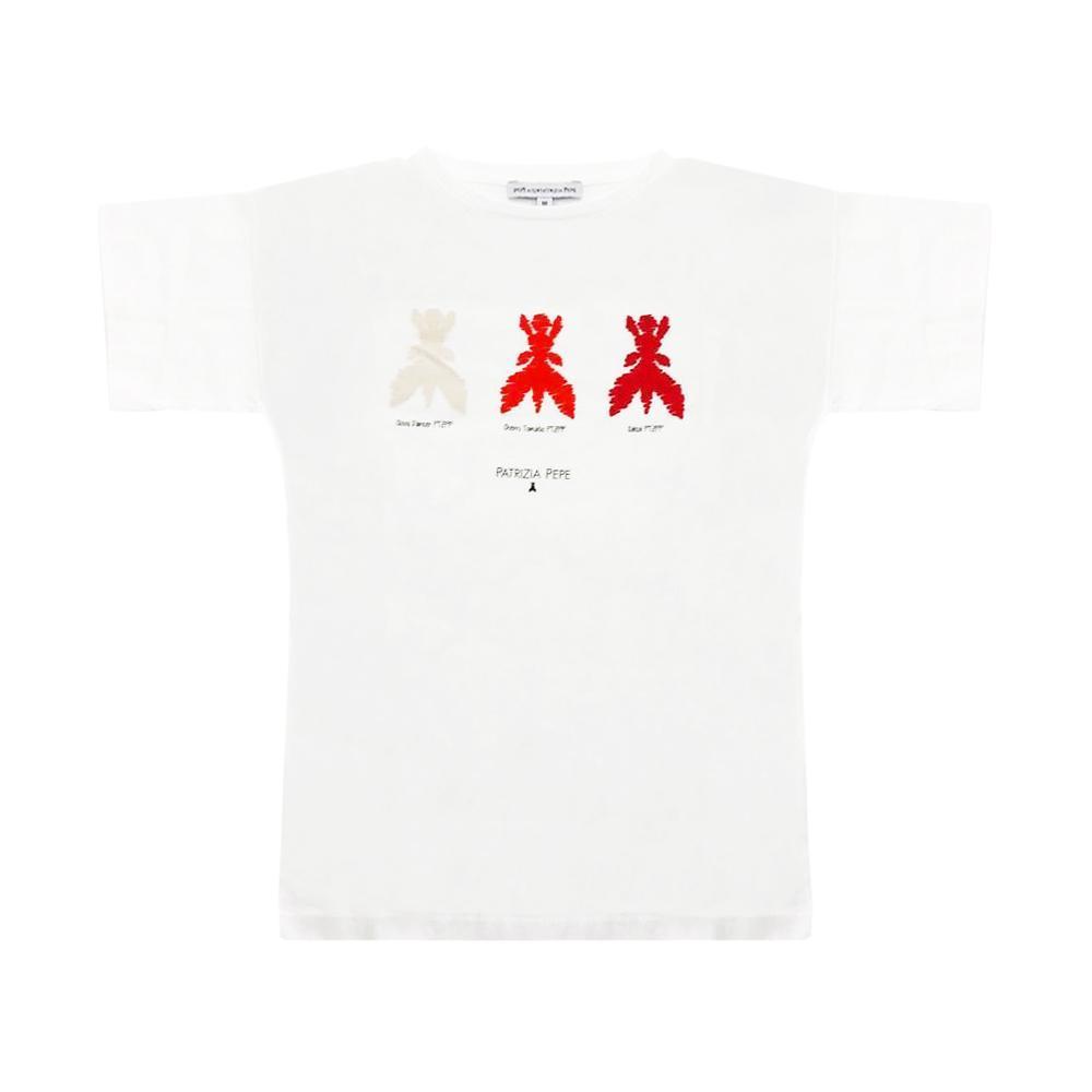 patrizia pepe patrizia pepe t-shirt ragazza bianco te39122705551