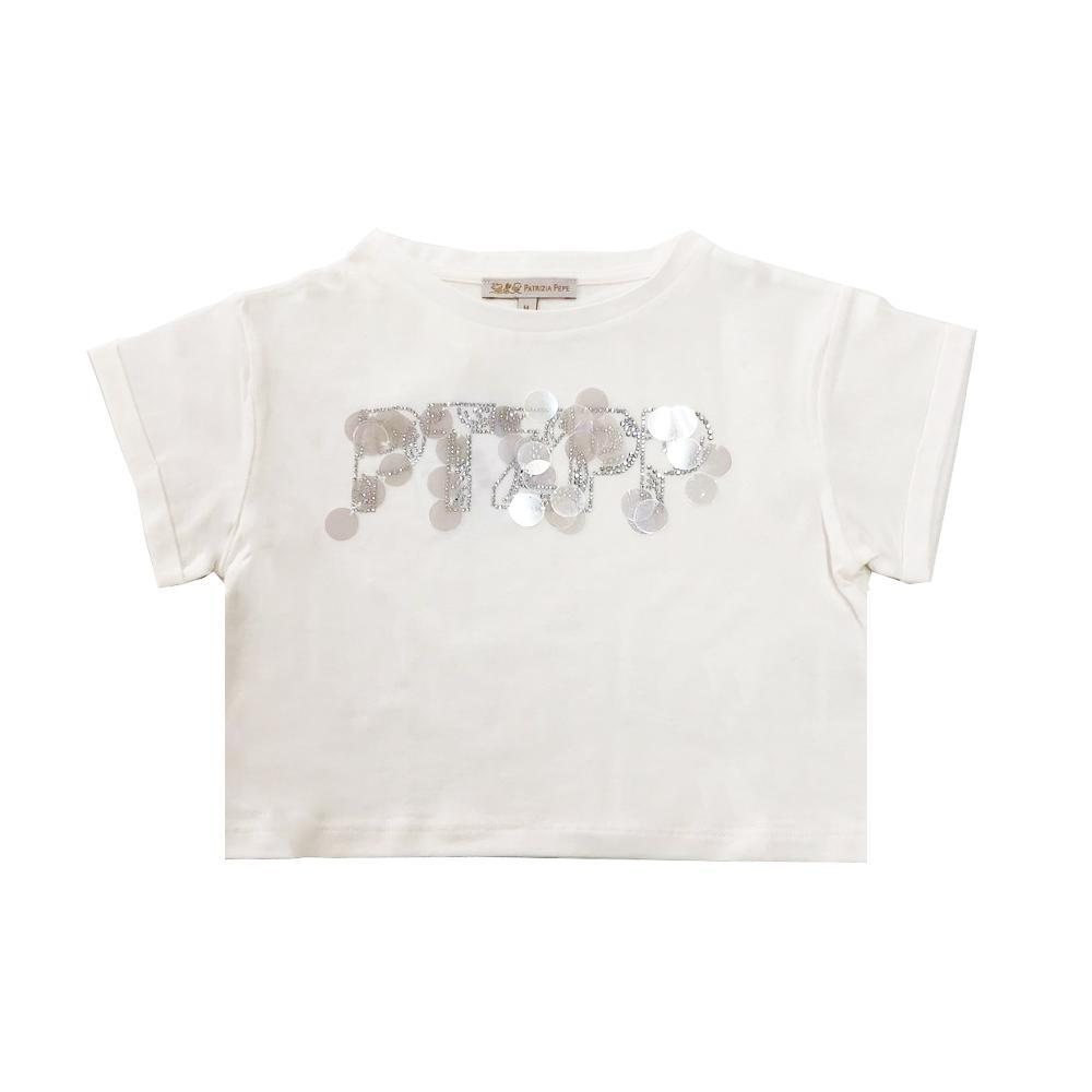patrizia pepe patrizia pepe t-shirt ragazza panna te211221s102