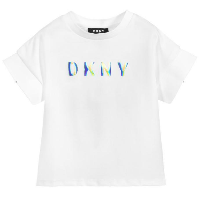 dkny dkny t-shirt  ragazza bianco d35q511