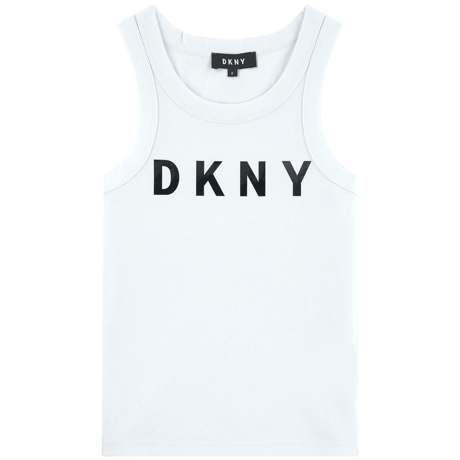 dkny dkny canotta  ragazza bianco d35q48