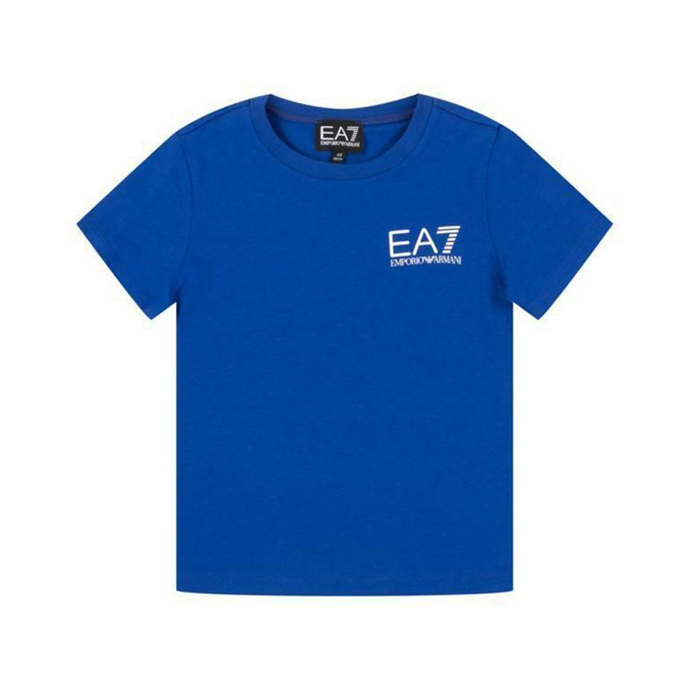 ea7 t-shirt  ea7 junior blu 3hbt51-bj02z