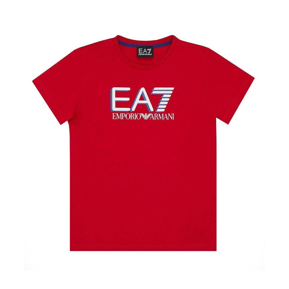 ea7 ea7 t-shirt  junior rosso 3hbt53-bjt3z