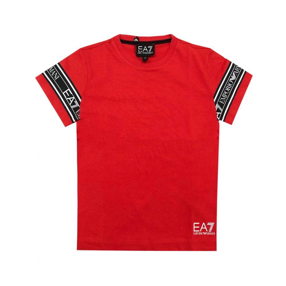 ea7 ea7 t-shirt  junior rosso 3hbt57-bjt3z