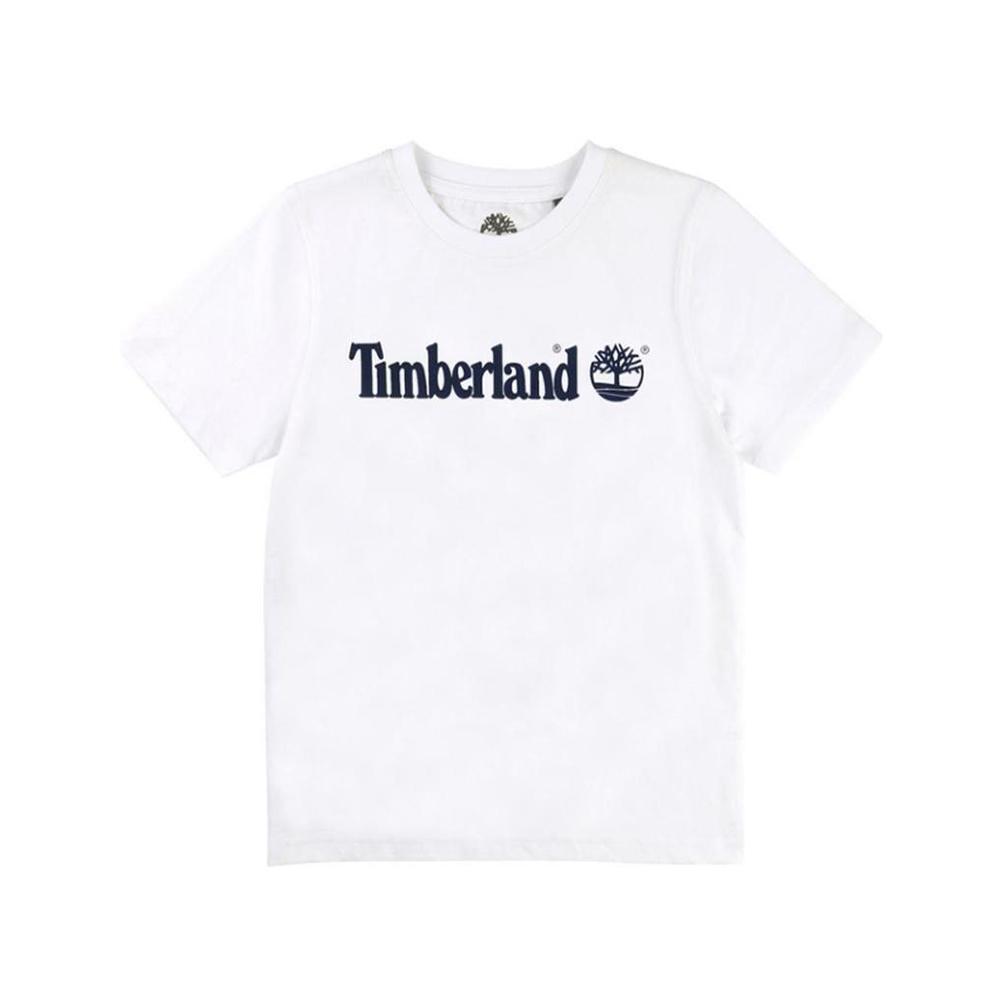 timberland t-shirt timberland bambino bianco t25p121