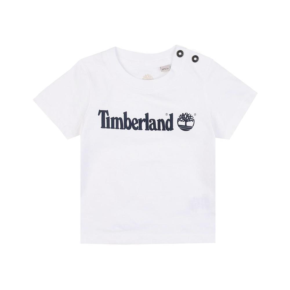 timberland timberland t-shirt bambino bianco t05j171