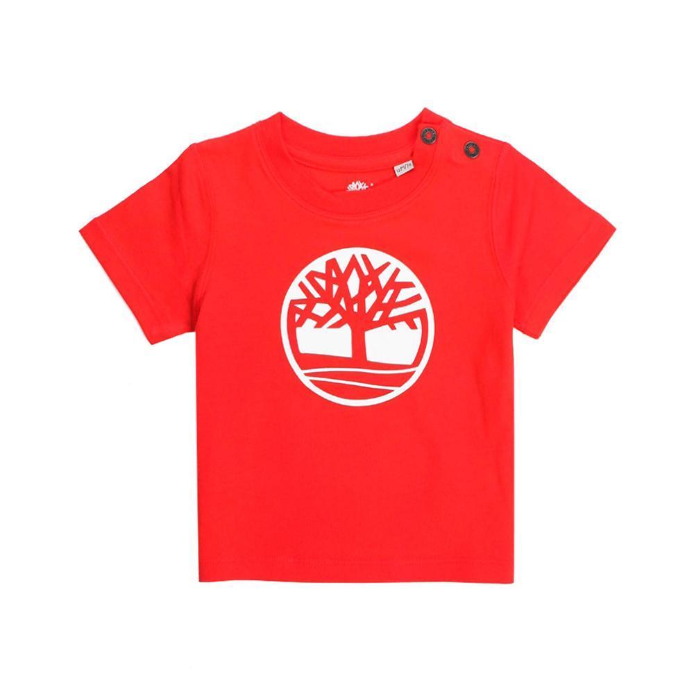 timberland timberland t-shirt bambino rosso t05j171
